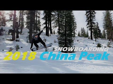 Snowboarding China Peak Winter 2018