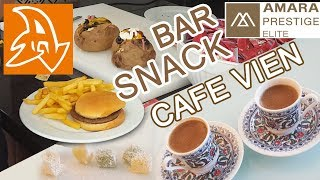 Amara Prestige 5* Cнэк бары и кондитерская. Еда на территории отеля. Snack bars. Cafe vien