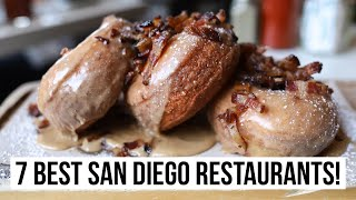 7 BEST San Diego Restaurants! Food tour with sushi, pizza, burgers, tacos, and more.