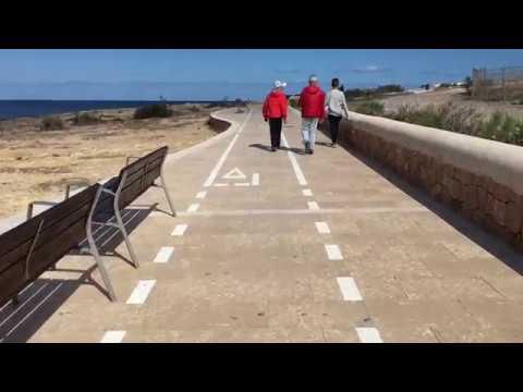 The walkway around the coast of San Antonio Bay, Ibiza