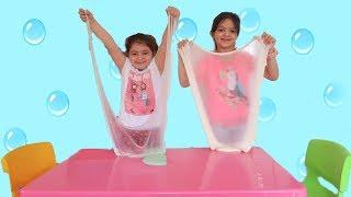 3 Colors of Glue Slime Challenge , Fun kids video Part 2