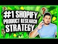 #1 Shopify Dropshipping Product Research Strategy