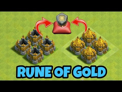 LET'S USE RUNE OF GOLD | FILL YOUR GOLD STORAGES IN 1 SEC | CLASH OF CLANS