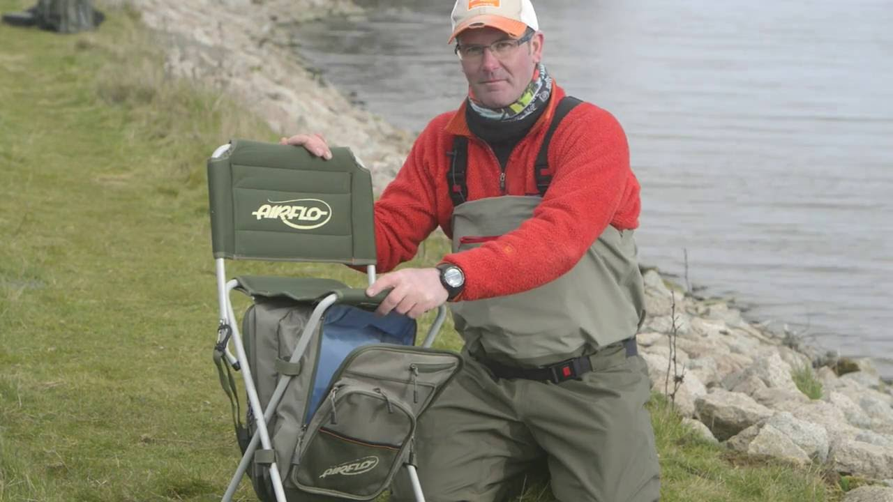 fishing chair rucksack large throne comfort zone stool bag from airflo youtube
