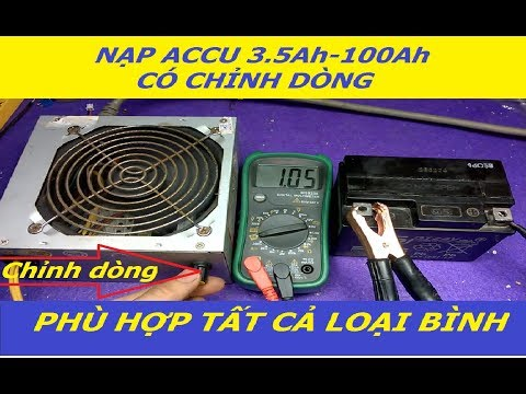 Nạp ACCU 12V 3.5Ah-100Ah Có Chỉnh Dòng Nạp - Phù Hợp Tất Cả Loại Bình- VPL Products
