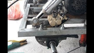 How to make a disc brake for an electric car