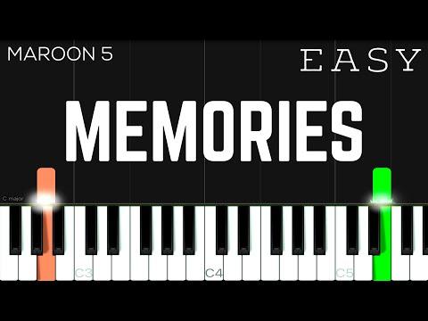 Memories - Maroon 5 | EASY Piano Tutorial
