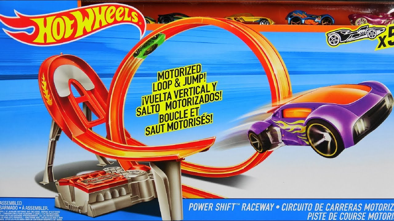 Circuito Hot Wheels : Epic hot wheels power shift raceway tournament motorized loop