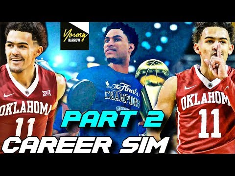 TRAE YOUNG'S NBA CAREER SIMULA trae young