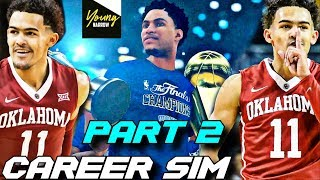 TRAE YOUNG'S NBA CAREER SIMULATION ON NBA 2K18!!! PART 2!! THE NEXT STEPH CURRY?!