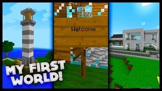 MY FIRST MINECRAFT WORLD