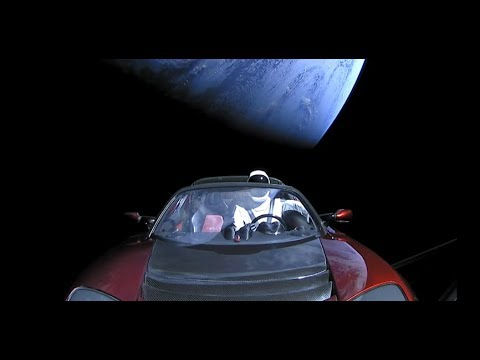 [10 Hours] SpaceX Live Views of Starman Replay [1080HD] SlowTV