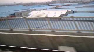 China High-speed Train (CRH) on Beijing-Tianjin Intercity Railway (Full trip) Part 1