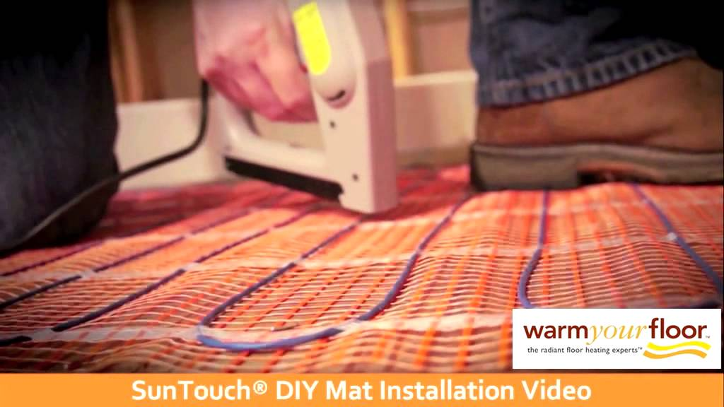 Suntouch 30 Diy Floor Heating Mat Install