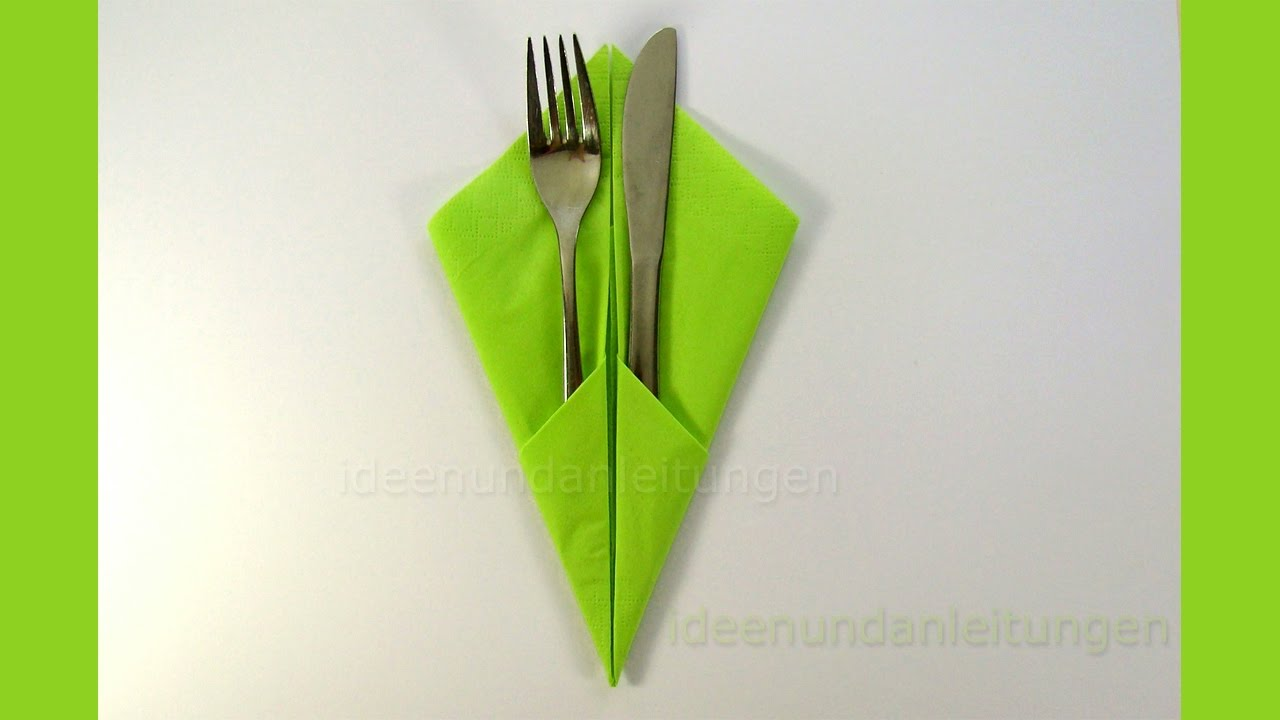 Bestecktaschen Falten Napkin Folding Pocket Napkin Folding With Silverware How To Fold Napkins Diy