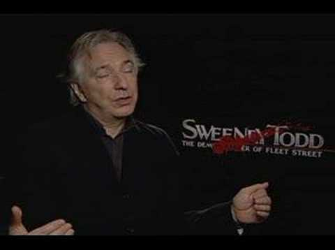 Alan Rickman interview for Sweeney Todd
