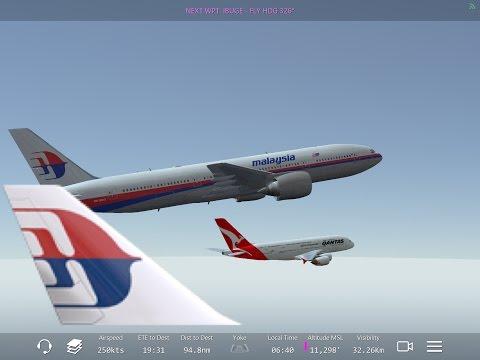 Infinite Flight - Malaysia Airlines flight WSSS-WMKK
