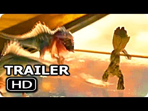 "Thumbnail: GUARDIANS OF THE GALAXY 2 ""Baby Groot Vs Baby Dinosaur"" Trailer (2017) Chris Pratt Action Movie HD"