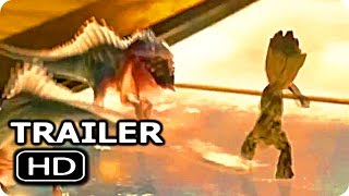 "GUARDIANS OF THE GALAXY 2 ""Baby Groot Vs Baby Dinosaur"" Trailer (2017) Chris Pratt Action Movie HD"