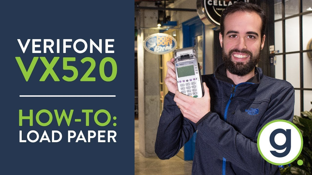 how to load paper in verifone vx520