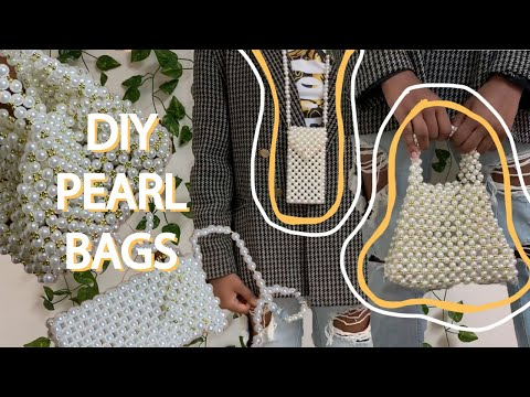DIY PEARL BEADED BAGS | Pinterest Inspired - YouTube