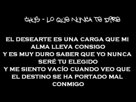 Download Chus-Lo que Nunca te Dire(Letra)