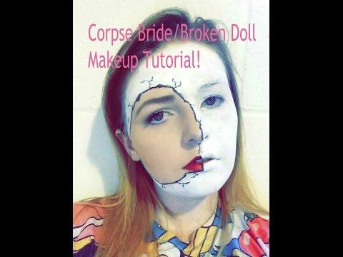 Corpse Bride/Broken Doll Halloween Tutorial   Rosie Cole