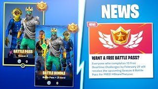 "How to Get ""FREE FORTNITE SEASON 8 Battle Pass!"" (EARN Fortnite Season 8 Battle Pass Skins For FREE)"