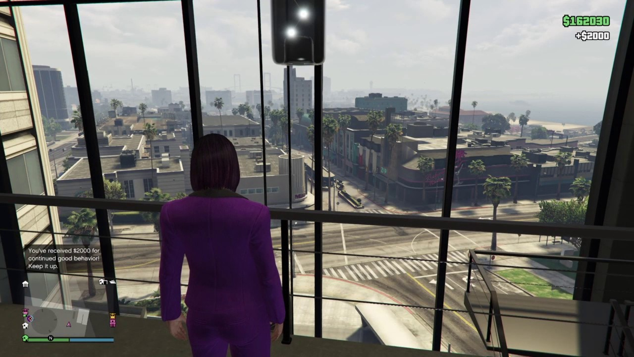 Gta V Online Maze Bank West Executive Office Garage Views Youtube