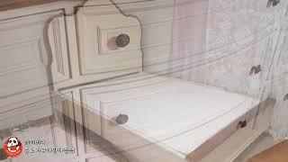 (중고가구-판매중) 엔틱 수입 미라지 침대 협탁 화장대…