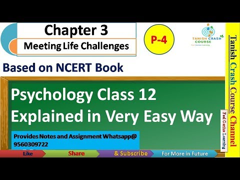 Psychology Class 12 Chapter 3, NCERT Class 12 Psychology Chapter 3 Meeting  Life Challenges, in Hindi