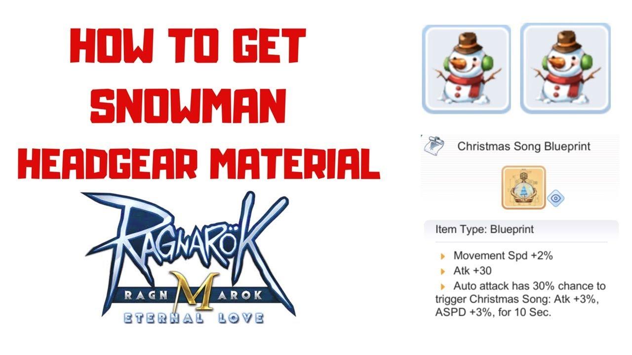 3 Ways To Get Snowman Headgear Material Ragnarok Mobile Eternal Love