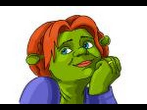 How To Draw Princess Fiona From Shrek Forever After Youtube