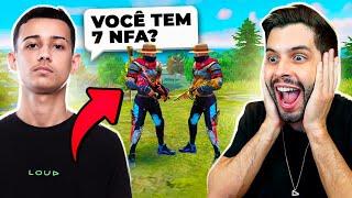 FARPOU MUITO?! CHAMEI O BAK PARA UM X1 SURPRESA NO FREE FIRE!