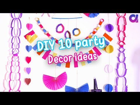 10 AMAZING DIY Easy Party Decorations Ideas | Cute Decor | birthday party ideas | Artkala 289