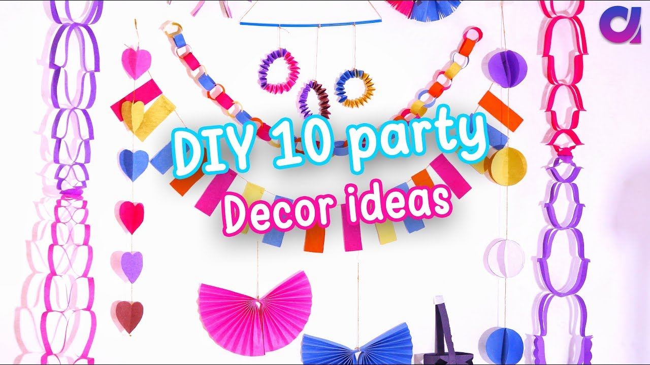 10 AMAZING DIY Easy Party Decorations Ideas | Cute Decor | birthday party ideas | Artkala 289  sc 1 st  YouTube & 10 AMAZING DIY Easy Party Decorations Ideas | Cute Decor | birthday ...