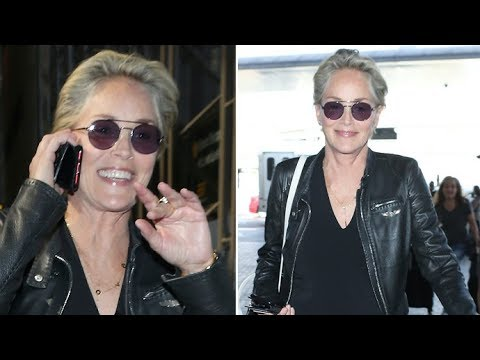Isn't She Lovely?! Sharon Stone, 60, Defying Age As Usual At LAX