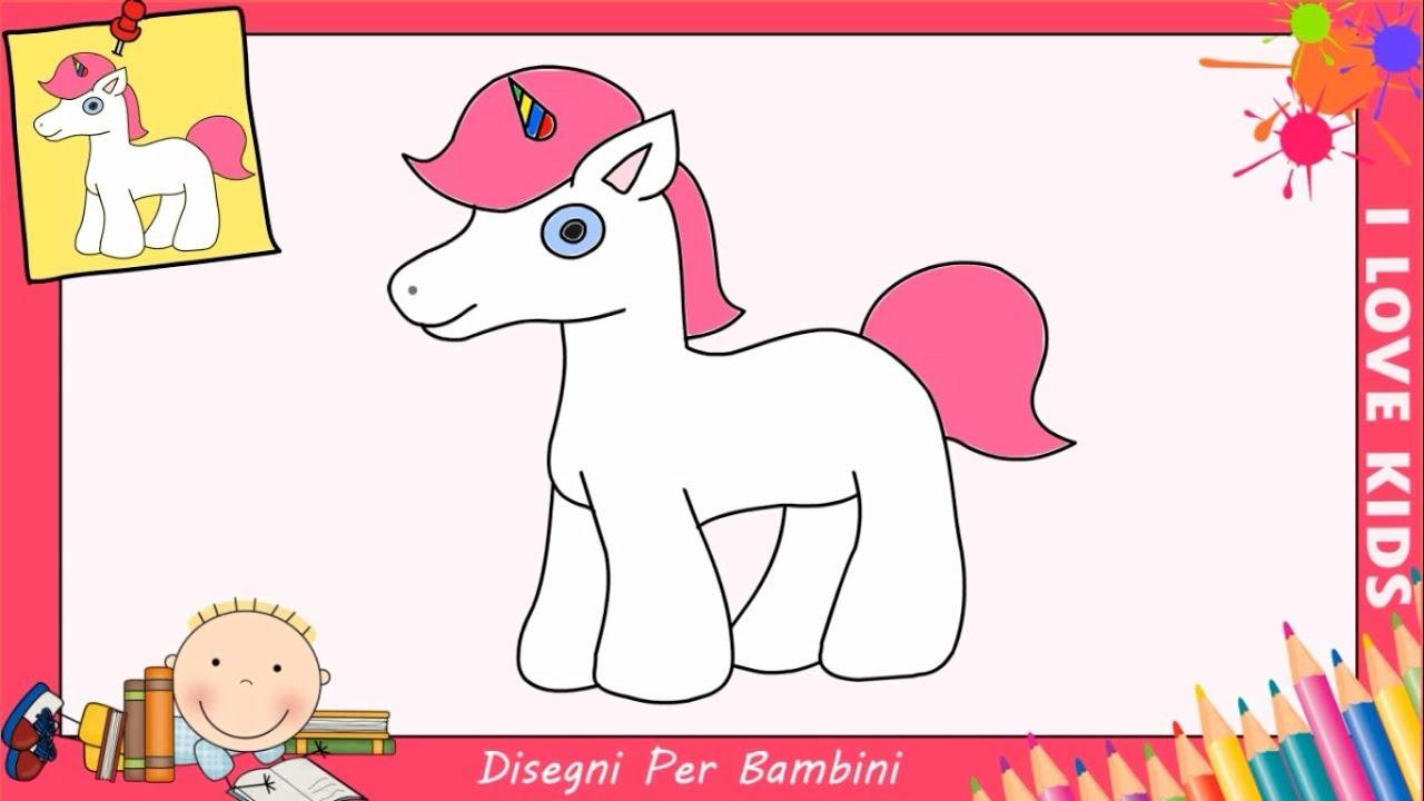 Come Disegnare Un Unicorno Facile Passo Per Passo Per Bambini 1