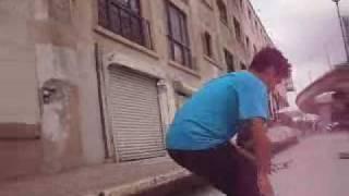 chinatown ledge skate sesh