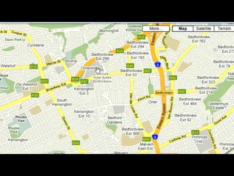 Google South Africa Maps. How to: Driving Directions