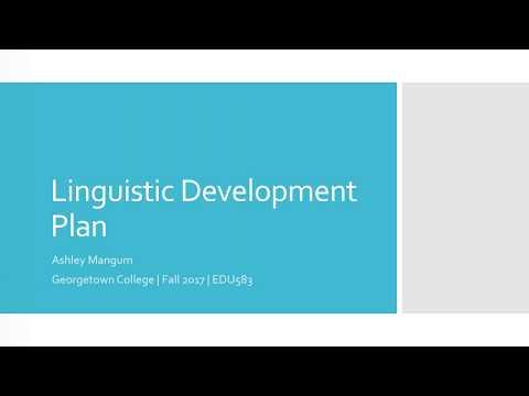 Linguistic Theory Development Plan - EDU583