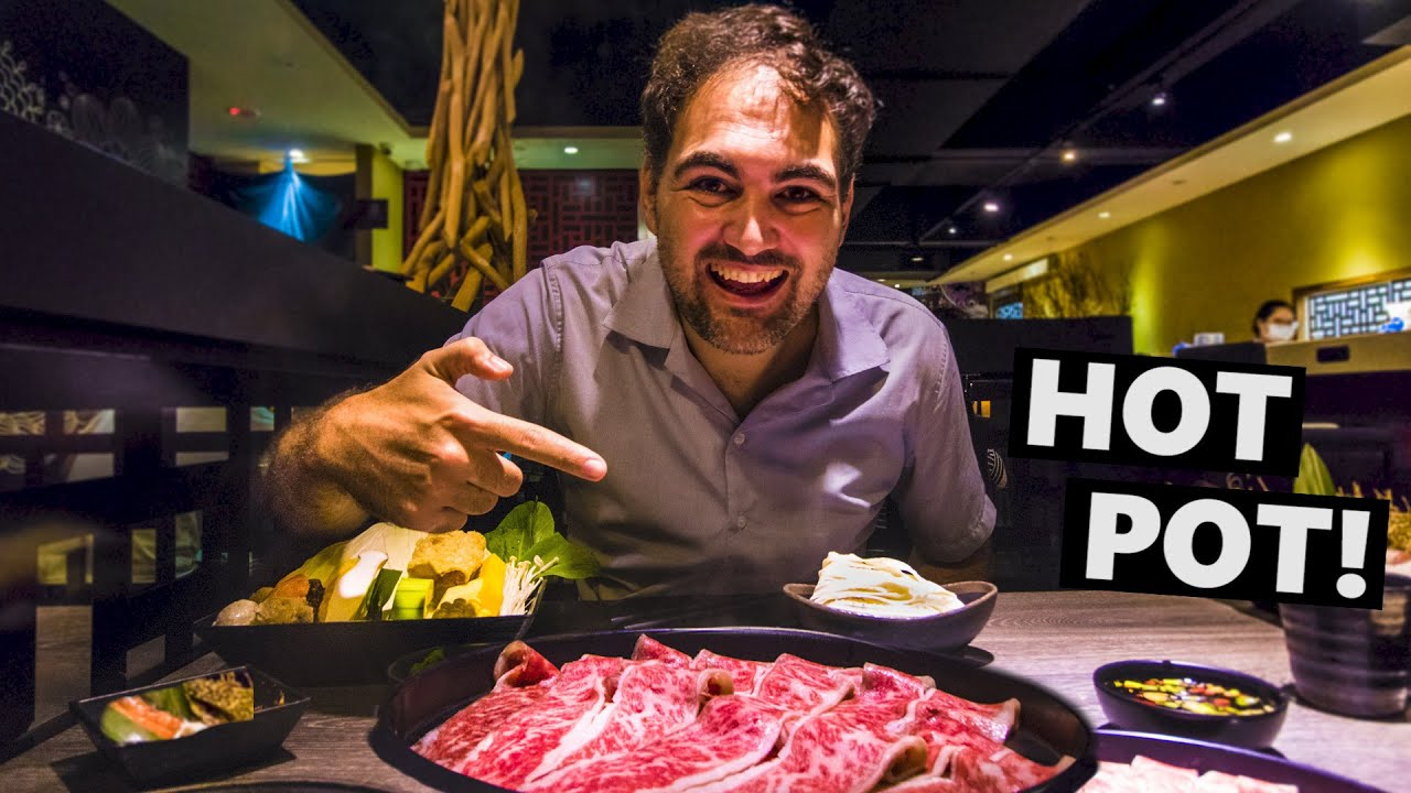 Belgian Couple Tries Taiwanese Wagyu HOT POT!