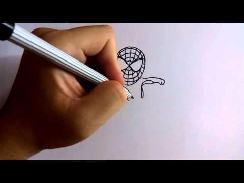 วาดการ์ตูนกันเถอะ สอนวาดการ์ตูน สไปเดอร์แมน ง่ายๆ หัดวาดตามได้
