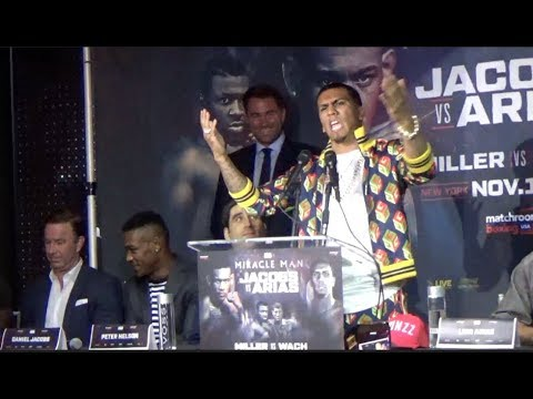 HEATED! Luis 'Cuba' Arias & Danny Jacobs exchange INSULTS/ FULL NYC Presser
