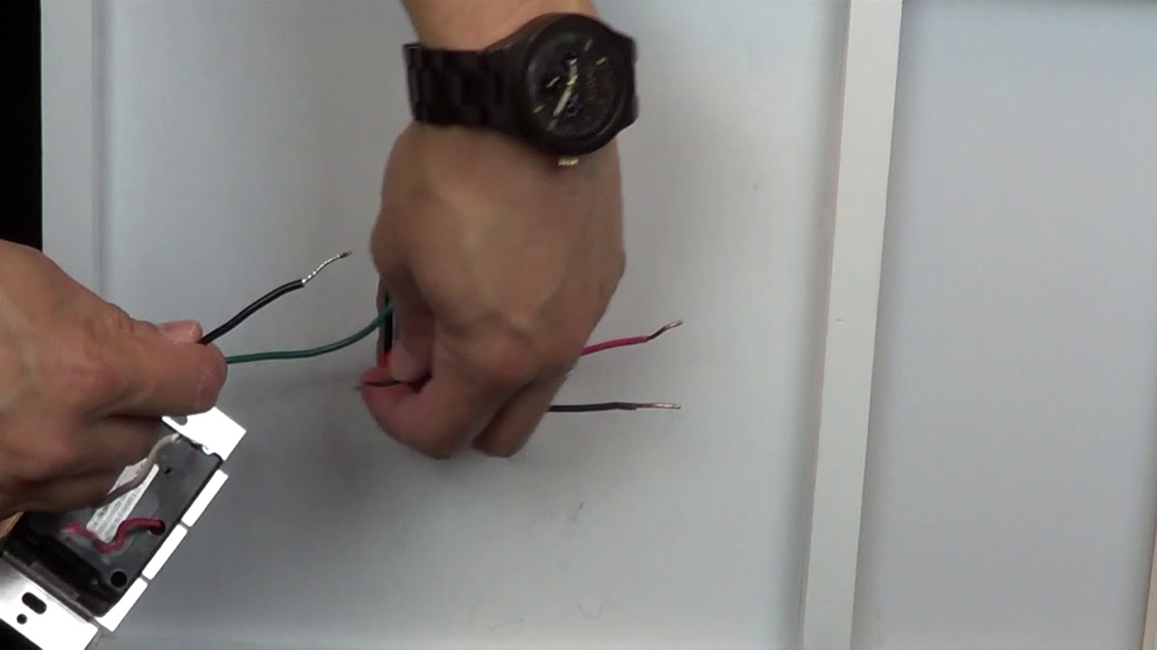 Wiring A Control With 1 Black Wire, One Red Wire, And One