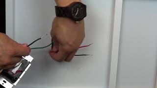 Wiring a Control with 1 Black Wire, One Red Wire, and One White Wire (Multilocation with a Pico)