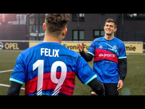 Real-Life FIFA19 Skill Challenge - Pulisic vs freekickerz