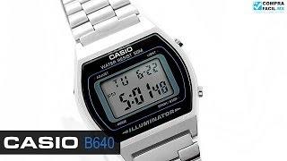 Reloj Casio Retro Vintage B640 Plata - www.CompraFacil.mx