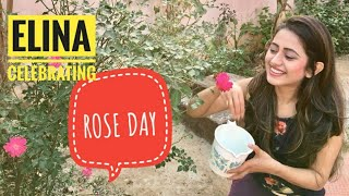 ELINA CELEBRATING ROSE DAY || ELINA SAMANTARAY