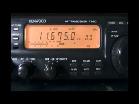 Radio Canada International (relay Kunming, Yunnan, China) - talking about next SW s/off - 11675 kHz